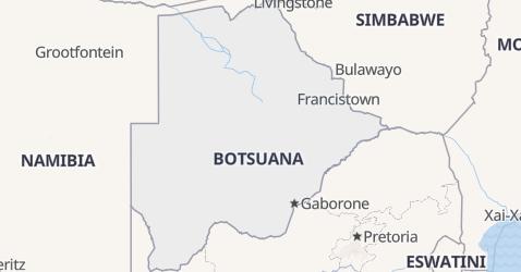 Karte von Botswana
