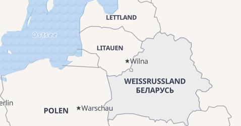 Karte von Weißrußland