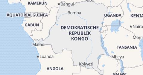 Karte von Kongo, Demokratische Republik