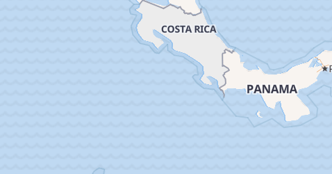 Karte von Costa-Rica