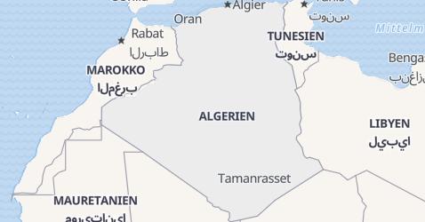 Karte von Algerien