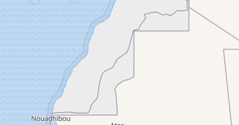 Karte von Westsahara