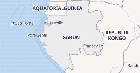 Karte von Gabun