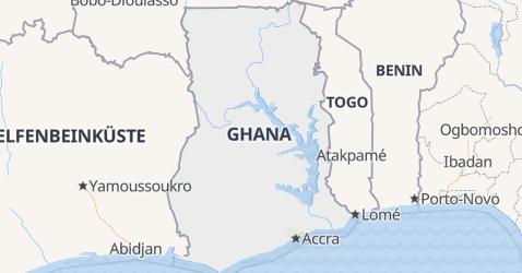 Karte von Ghana