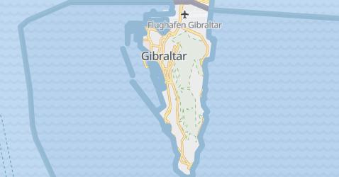 Karte von Gibraltar -Großbritannien