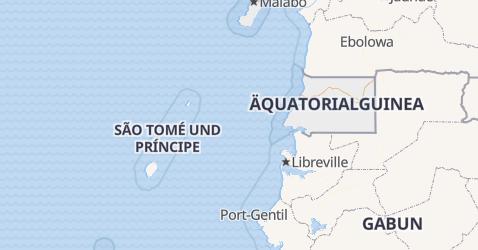 Karte von Äquatorial-Guinea