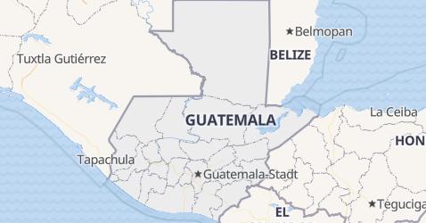 Karte von Guatemala