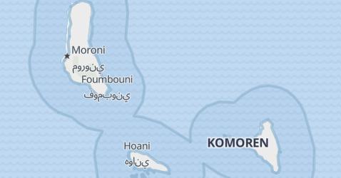 Karte von Comoren