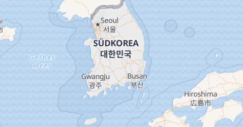Karte von Südkorea