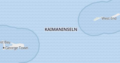 Karte von Cayman-Inseln