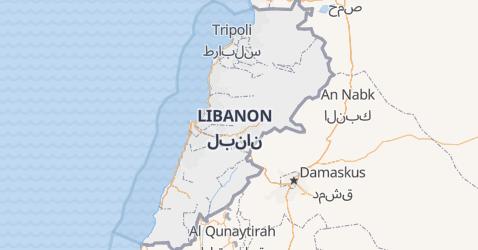 Karte von Libanon