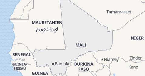 Karte von Mali