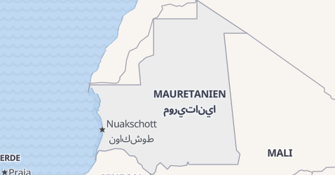 Karte von Mauretanien
