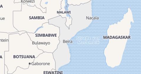 Karte von Mosambik