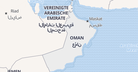 Karte von Oman