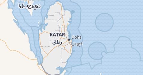 Karte von Katar