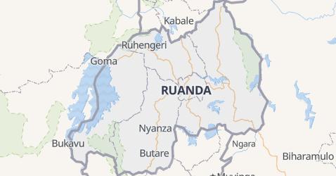 Karte von Ruanda