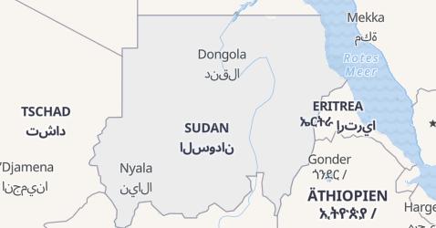 Karte von Sudan