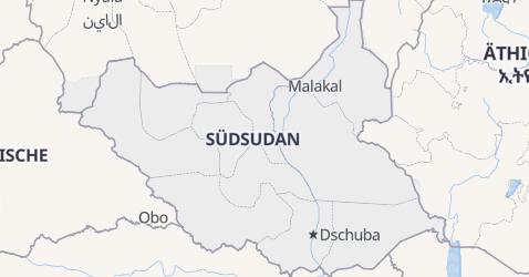 Karte von Südsudan