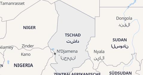 Karte von Tschad