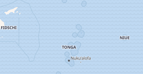 Karte von Tonga