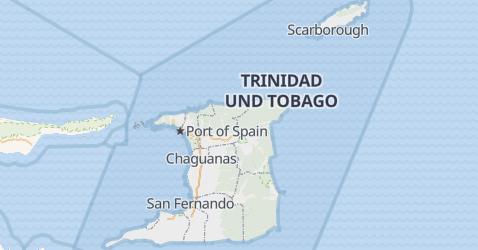 Karte von Trinidad und Tobago