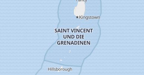 Karte von St. Vincent und die Grenadinen