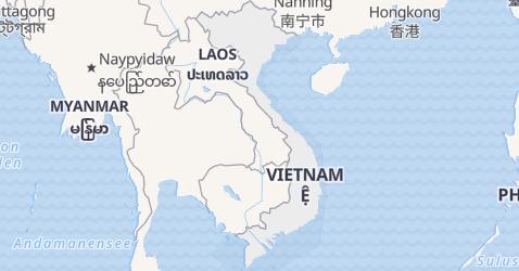 Karte von Vietnam