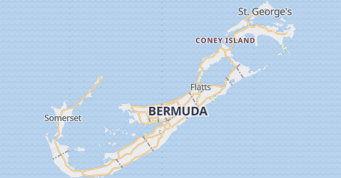 The Bermuda Islands map