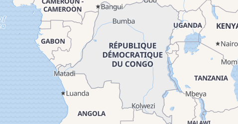 Democratic Republic of the Congo map