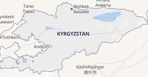 Kyrgyzstan map