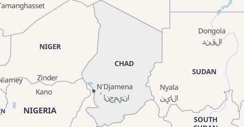 Chad map