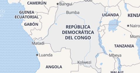 Mapa de República Democrática del Congo