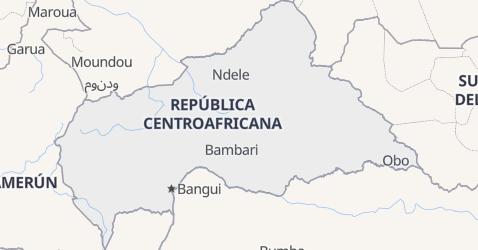 Mapa de República Centroafricana