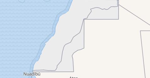 Mapa de República Arabe Saharaui Democrática