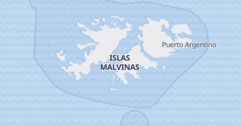 Mapa de Islas Malvinas