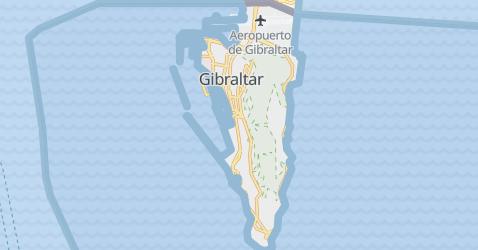 Mapa de Gibraltar - Reino Unido