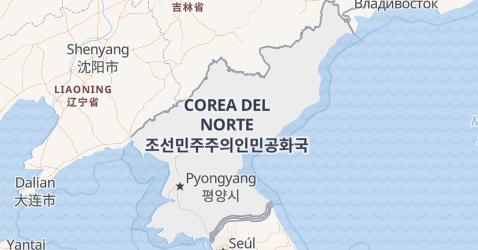 Mapa de Repúblíca Popular Democrática de Corea