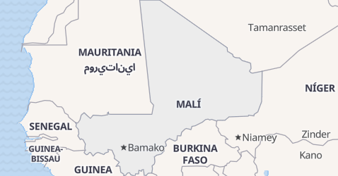 Mapa de Malí