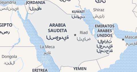 Mapa de Arabia Saudita