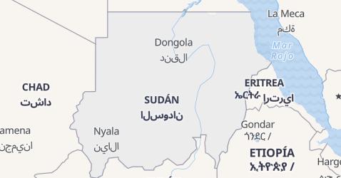 Mapa de Sudán