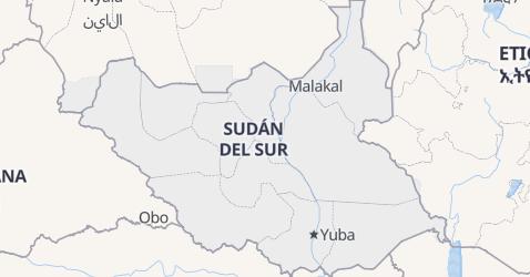 Mapa de Sudán del Sur