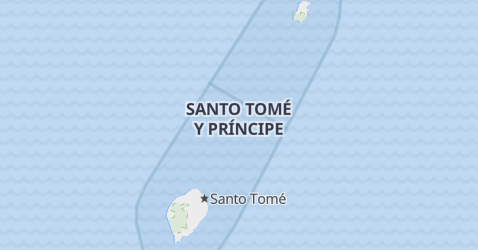 Mapa de Santo Tomé y Príncipe
