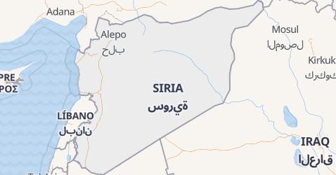 Mapa de Siria