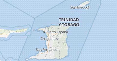 Mapa de Trinidad y Tabago
