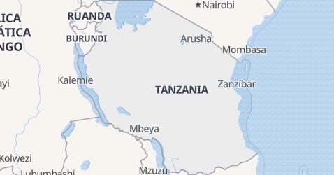 Mapa de Tanzanía