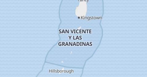 Mapa de San Vicente y las Granadinas