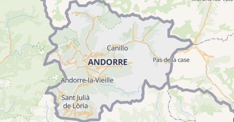 Carte de Andorre