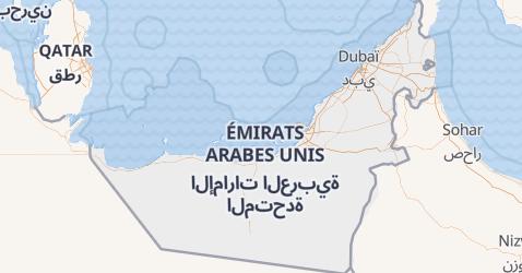 Carte de Émirats Arabes Unis