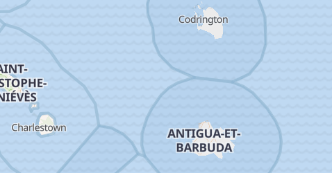Carte de Antigua-et-Barbuda